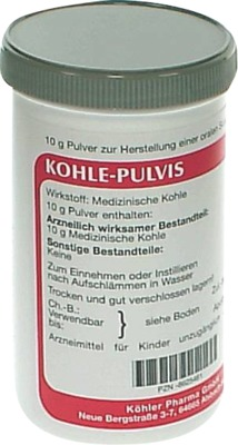 Kohle-Pulvis
